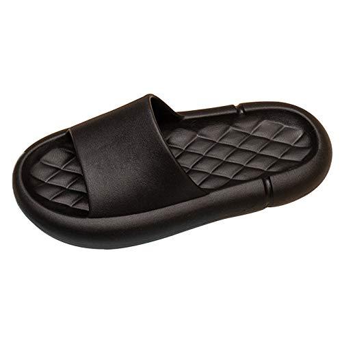 Pantuflas Para Hombres Y Mujeres, Zapatos Antideslizantes Silenciosos De Suela Gruesa Para El Baño, Sandalias Con Punta Abierta Para El Hogar Y En El Interior 42-43 negro