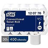 Tork 120776 Kleinrollen Toilettenpapier Universal Qualität für T4 Kleinrollensysteme / 2-lagiges WC-Papier, extra lang und reißfest (30-er Pack)
