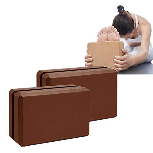 chunnron Bloque Yoga Yoga Block Bloque de Espuma de Alta Densidad Bloques de Yoga Bloques y Ladrillos para Yoga Yoga Conjunto Yoga Bloques de Soporte 2pcs,-