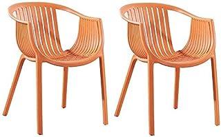 ZMHVOL Plástico Natural Asegurar la Estabilidad Silla de diseño Moderno Reuniones Familiares Oficina Use Sillas de Escritorio de plástico (Color: Azul) ZDWN (Color : Orange)