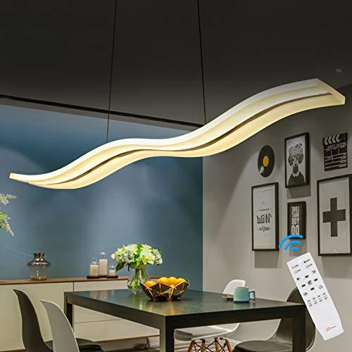 Yorking 36W Dimmbar Led Pendelleuchte Kronleuchter Deckenleuchten Welle HäNgende Leuchte HöHenverstellbar Fernbedienung FüR Esszimmer Wohnzimmer Schlafzimme
