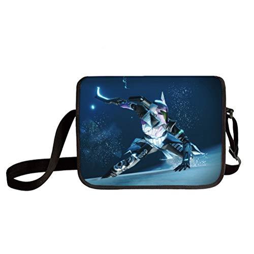 Destiny 2 Bolso de Hombro Elegante Ligero Classic Basic Crossbody Bolsa Active Casual Messenger Bags Travel Messenger Bag Múltiple Bolsillo Crossbody Bolsa Unisex