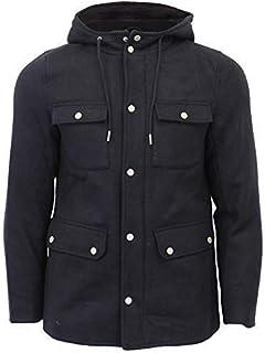 Tokyo Laundry Mens Wool Blend Jacket Trench Coat Hoodie Military Duffle Giordano