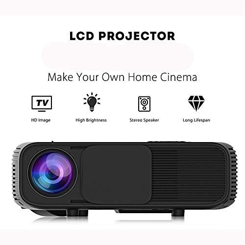 Proyector del Teatro casero HD 1080P Incorporado estereoscópica corrección Trapezoidal Vertical con PS4, HDMI, AV y USB, Smartphone, Tablet, portátil