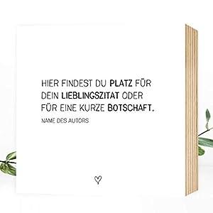 DEIN individueller Spruch – Wunderpixel® Holzbild – individualisierbar personalisierbar persönlich – eigener Text Name…