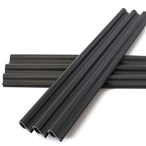 Tamay Sichtschutzstreifen Klemmschienen – Befestigungsclips Anthrazit für besonders starken Halt der PVC Sichtschutzfolie 40 Stück