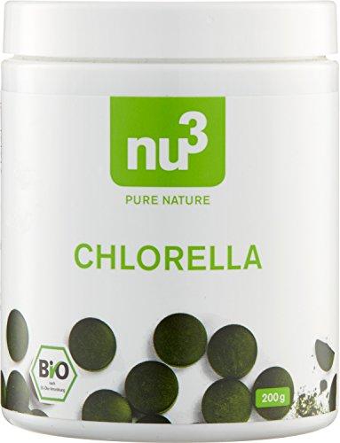 nu3 – Chlorella Vulgaris Bio en Comprimés – 500 Comprimés - Microalgue 100% Pure, Bio et d'une Qualité Premium - Riche en Vitamine B12 et en Fer – Adaptée au régime Vegan et Sans Gluten