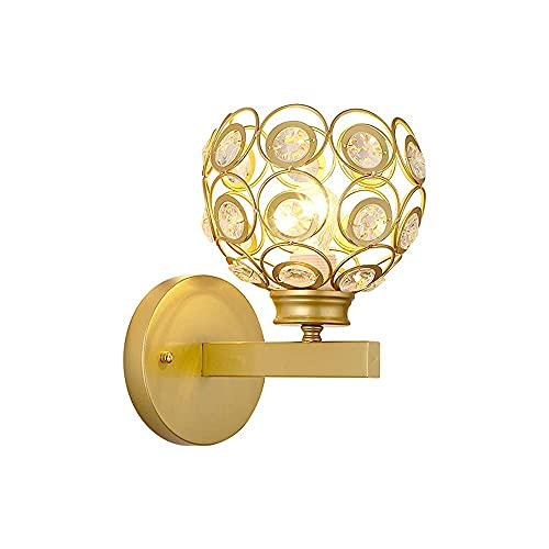 LBMTFFFFFF Lámpara de Pared Soporte de Luz Luz de Estilo Americano Aplique de Lujo Lámpara de Pared Soporte Dendrítico de Re Dorado Iluminación de Pared Pantalla de Vidrio en Forma de Lágrima Aplique