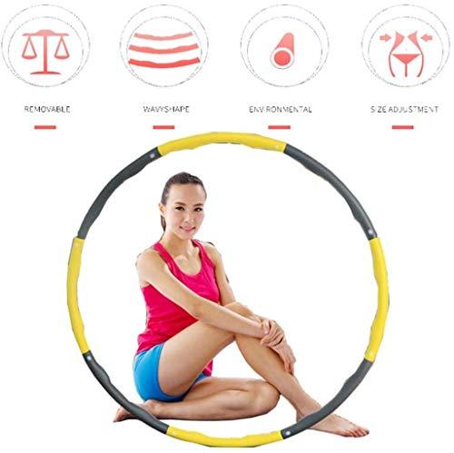 QUANOVO Fitness Hula Hoop Fitness Pieghevole Saluto 1,2 kg per l'esercizio Giovani Adulti Donne Palestra Grande per Esercizio di Danza Fitness e Divertimento Weighted