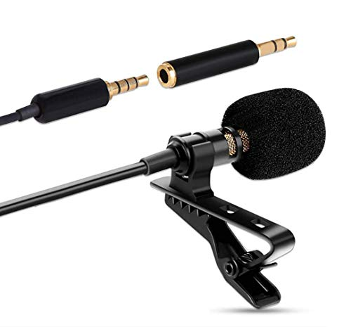 Easy-Link Lavalier Mikrofon 3.5mm Omnidirectional Kondensator Mikrofon Clip-on Lapel Mic für Smartphone PC Kamera, Interview, Audio Recording, Live Broadcast