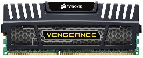 Corsair CMZ4GX3M1A1600C9 Vengeance, Memoria RAM Interna, 4 GB, 1600 MHz, DDR3, DIMM, Nero