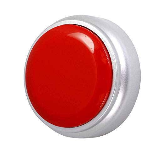 Neutral Recordable Button -Record Talking Button ,Premium 30S Voice Recordable Button Sound Effect Button with Play Back (Red+Silver)