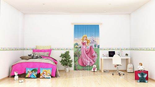 AG Design Disney Prinzessinnen Wand Sticker, Selbstklebende Folie, Mehrfarbig, 500 x 10 cm