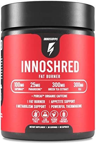 Inno Shred Day Time Fat Burner 100mg Capsimax Grains of Paradise Organic Caffeine Green Tea product image