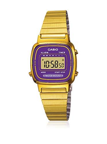CASIO Reloj con Correa de Acero Inoxidable LA-670WGA-6