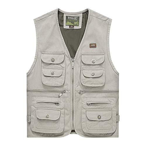 Heren vest outdoor vest visvest mannen zomer dun vest katoen multi-pocket vest