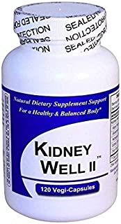 KidneyWell II (1 Bottle w/ 120 Capsules) - Concentrated Kidney Full Spectrum Herbal Blend - Dietary Supplement Kidney Well Restore