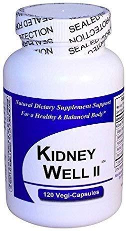 KidneyWell II (1 Bottle w/ 120 Capsules) - Concentrated Kidney Full Spectrum Herbal Blend - Dietary Supplement Kidney Well Restore