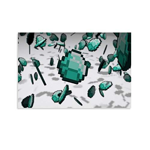 SEMN Background of Diamonds Minecraft Poster dekorative Malerei Leinwand Wandkunst Wohnzimmer Poster Schlafzimmer Malerei 24x36inch(60x90cm)
