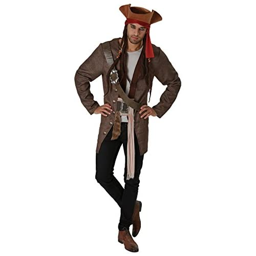 Rubie's Pirati Dei Caraibi Movie Costume Jack Sparrow per Adulti, Unica, IT820520-STD