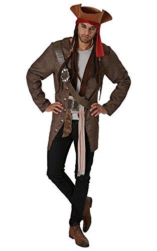 Rubie 's Officiële Disney Piraten uit het Caribisch Jack Sparrow Volwassen kostuum pak Medium/Standard bruin