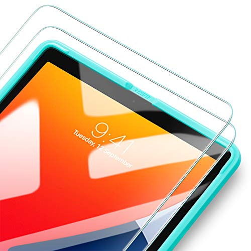 ESR [2 Pack] Tempered-Glass Screen Protector for iPad 8th Gen 10.2 (2020)/7th Gen (2019), [Free Installation Frame] [Scratch-Resistant] HD Clear Premium Tempered-Glass Screen Protector