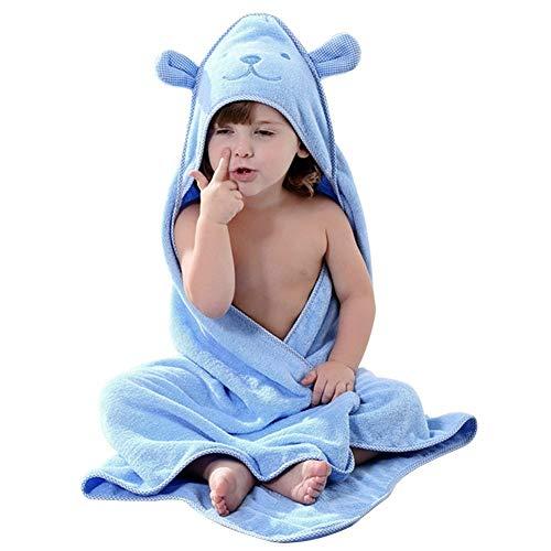 Hilmocho Toallas de Bebé con Capucha Albornoz Absorbente de Algodón Suave Manta Linda del Estilo Animal, 90x90CM, Apto para 0-6 Años