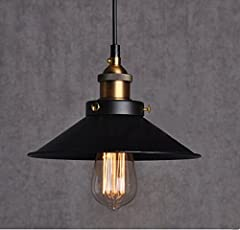 Retro Pendant Light Shade Vintage Industrial Ceiling Lighting LED Restaurant Loft Black Lamp Shade Kitchen Coffee-Shop Chandelier E27 Base #1