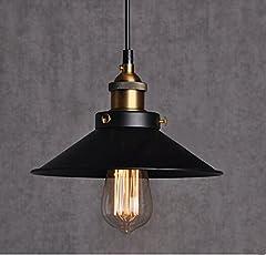 Retro Pendant Light Shade Vintage Industrial Ceiling Lighting LED Restaurant Loft Black Lamp Shade Kitchen Coffee-Shop Chandelier E27 Base #1