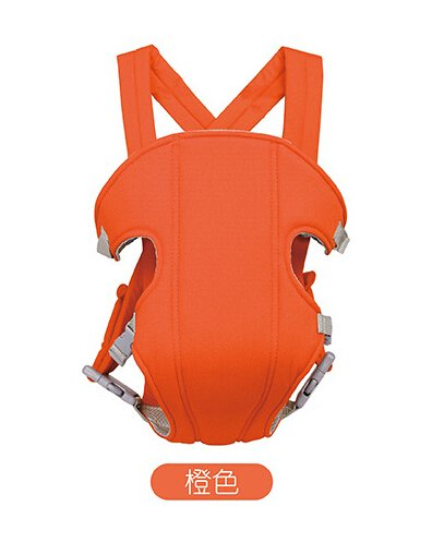 Hivel 3 en 1 Respirable Fular Portabebes Portador de Bebe Front Back Baby Safety Carrier Infant Comfort Backpack Sling Wrap - Naranja