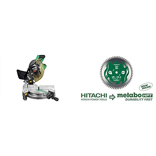 Metabo HPT C10FCH2S 10' Compound Miter Saw and Metabo HPT 115435M 10-Inch...