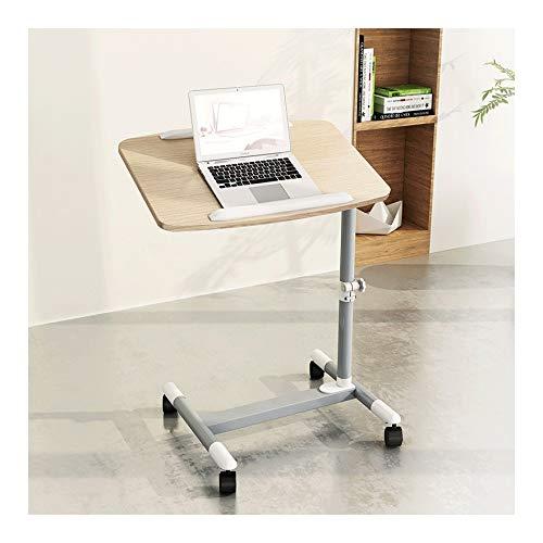 LQIAN Bett Rolltisch Pflegetisch Multifunktions-Beistelltisch Höhenverstellbar Kann Im Schlafzimmer, Wohnzimmer (Color : Chestnut Color)