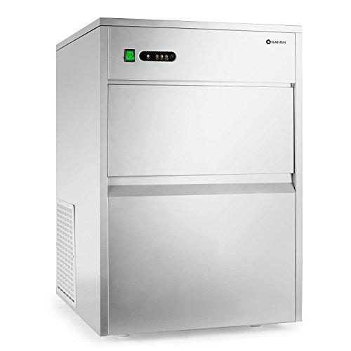 Klarstein Powericer XXXL - professionele ijsblokjesmachine, ijsblokjesmachine, ijsblokjesmachine, 50 kg / 24 uur, 260 W, 10 kg opbergvak, LED, smaakloze voering, zeer stil, roestvrij staal, zilver