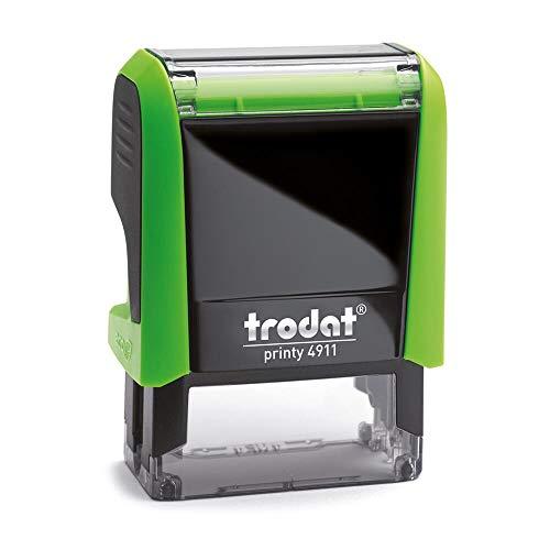 Stempel Trodat Printy 4911 custom (37x14 mm - 4 Zeilen) mit individueller Textplatte Farbe Grün