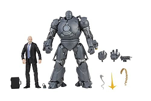 Marvel Hasbro Legends Series 6-inch Scale Action Figure Toy 2-Pack Obadiah Stane and Iron Monger Infinity Saga Characters, Premium Design, 2 Figures and 8 Accessories