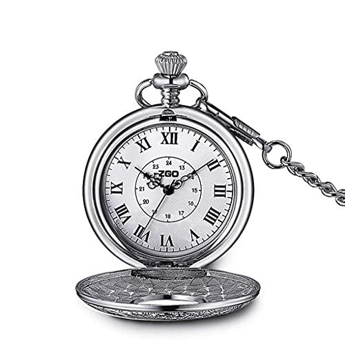 Reloj de bolsillo elegante clásico.Reloj de bolsillo para hombres - Retro Business Hollow Robot Mano bolsillo reloj de bolsillo Cuarzo Romano Digital Impresión FOB Reloj Hombres y cadena de las mujere