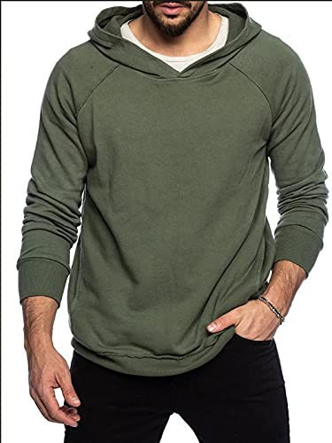 Sudaderas con capucha para hombre Fitness Pullover de manga larga con cordón Chaquetas con capucha