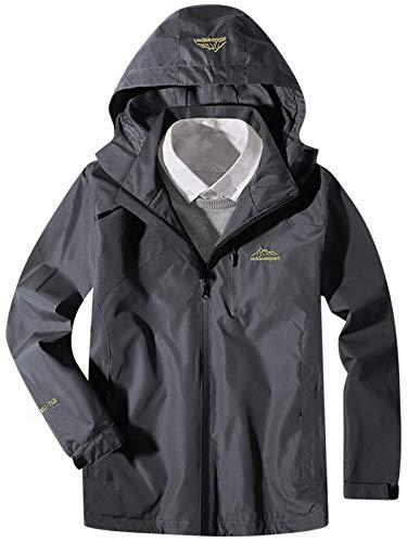 Mens Jacket Hoodie Lightweight Autumn Winter Thin Coat Regular Fit Casual Sports Zipper Outwear Dark Grey L