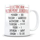 Electrician Retirement Gift for Men and Women, Retired Electrician Gift, Electrician Retirement Mug, Electrical Gift, Funny Retirement Gag