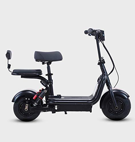 YLFGSLEP Scooter Eléctrico,Mini Motocicleta eléctrica de Dos plazas, Pantalla LED de Motor...