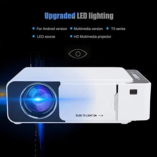 Seacanl Proyector, Dispositivo de proyección, proyector doméstico, Mini portátil para reuniones en casa para la Fiesta de(European regulations)