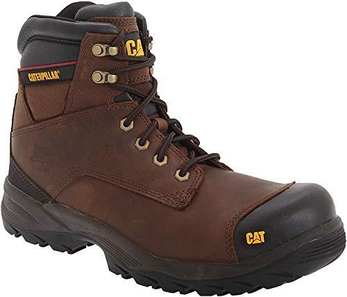 CAT Footwear Spiro S3 Zapatos de seguridad y botas para hombre, color Marrón, talla 41.5 EU