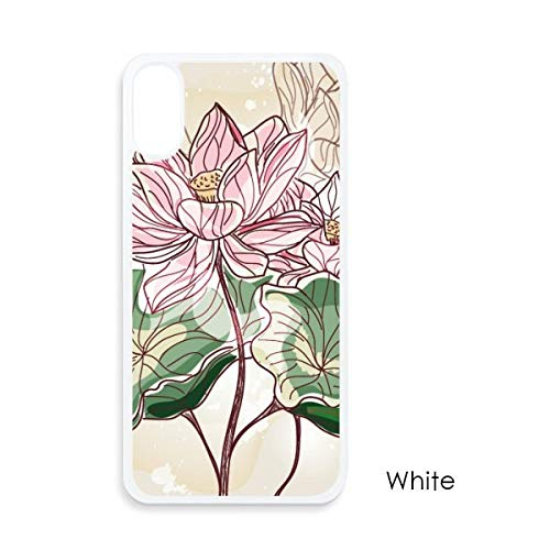 beatChong Lotus Bloem Lotus Wortel Aquarel Plant Voor iPhone X Cases Witte Phonecase Apple Cover Case Gift