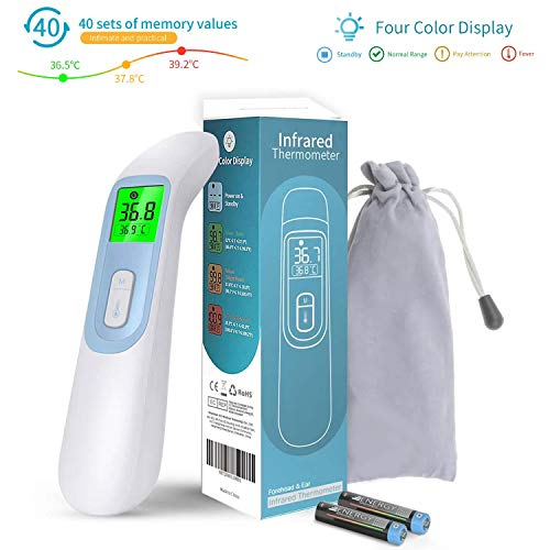 Elvissmart ES-IT-01 Non-Contact Infrared Thermometer with LCD Display, Digital Instant Reading Measurement, Best for Baby, Adult