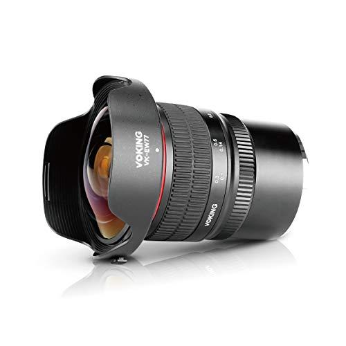 Voking 8mm f3.5 Ultra Wide Angle Manual Focus Rectangle Fisheye Lens for Fujifilm X Mount Camera X-Pro2 X-E3 X-T1 X-T2 X-T3 X-T4 X-T10 X-T20 X-A2 X-E2 X-T100 X-E1 X30 X70 X-M1 X-A1 X-T200 XPro1 X-S10