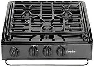 Suburban 3231A 3 Burner Slide-in Cooktop with Sealed Burner - Black w/Piezo Ignition