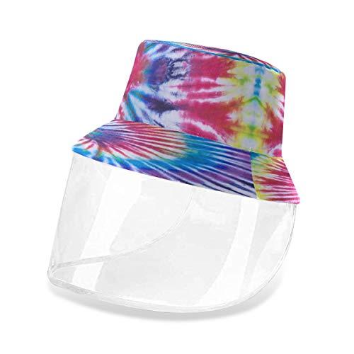 Alarge - Sombrero protector de pescador abstracto tribal con tinte étnico, antipolvo, sol UV, con máscara extraíble para hombres y mujeres al aire libre