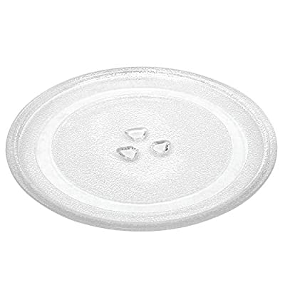 """10.5""""/27 cm Microwave Glass Plate Replacement? Microwave Glass Turntable Tray Replaces Compatible with Emerson P23? Hamilton Beach? Sunbeam? Magic Chef etc"""