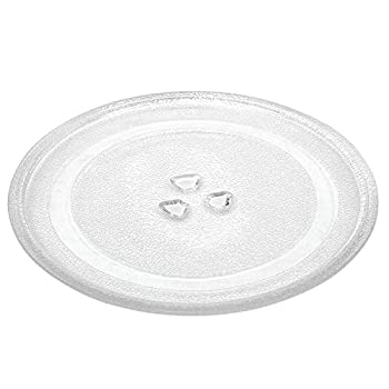 10.5 /27 cm Microwave Glass Plate Replacement, Microwave Glass Turntable Tray Replaces Compatible with Emerson P23, Hamilton Beach, Sunbeam, Magic Chef etc