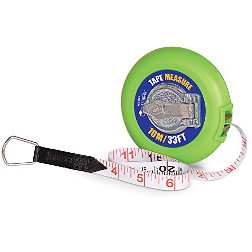 Learning Resources Wind-Up Tape 10 Meters/33 Feet, Early Math Skills, Easy Wind-Up Tape Measure, Construction Play, Ages 5+, Multi (LER0365)